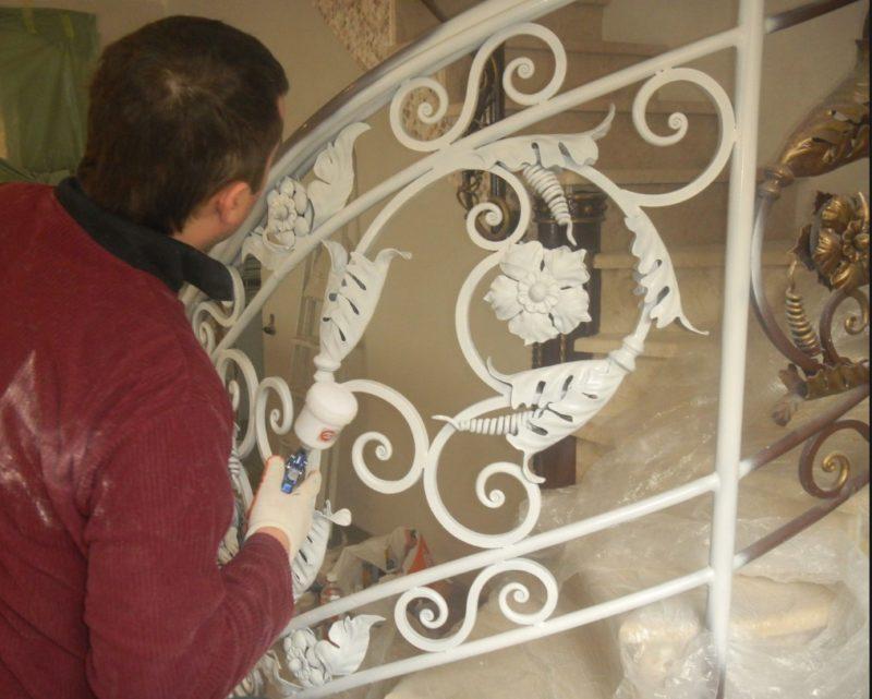 порошковая покраска кованых изделий3
